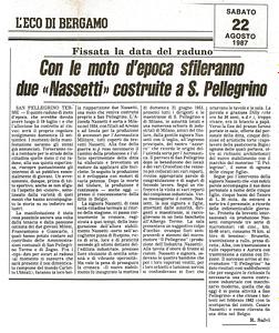 NASS RASSEGNA 1987 L'ECO DI BERGAMO 2